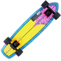 Cruiser Skateboard YAMBA BOIS Fluo 80's jaune