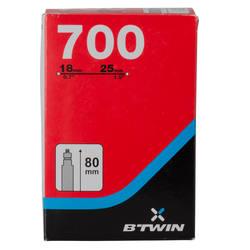 700x18/25 Inner Tube 80 mm Presta Valve