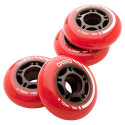 80A Hockey Skate Wheels 4 x 72 mm
