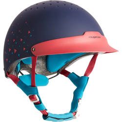 FH 120 Horse Riding Helmet - Grey and Camel