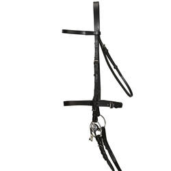 Schooling Horse Riding Bridle and Rein Set for Horse or Pony