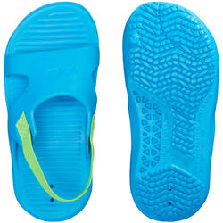 NATASLAP POOL SANDALS BLUE WITH GREEN ELASTIC
