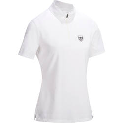 COMP500 Women's Short-Sleeved Horse Riding Competition Polo - White