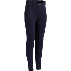 BR180 Kids' Full Seat Horse Riding Jodhpurs - Navy