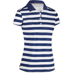 Women's Golf Striped Polo 520 - White/Blue