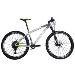 "Rockrider 920 27.5"" Mountain Bike - Grey/Lime"