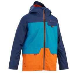 Hike 500 3-in-1 Boys' Hiking Warm Waterproof Jacket