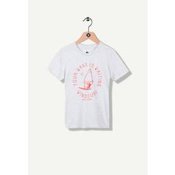 T-shirt gris clair print surf