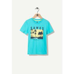 T-shirt turquoise photoprint