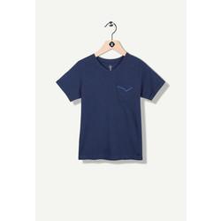 T-shirt marine avec poche