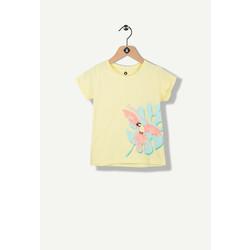T-shirt jaune print tropical
