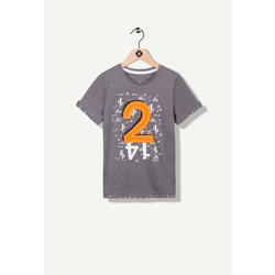 T-shirt fantaisie gris chiné
