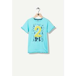 T-shirt fantaisie turquoise