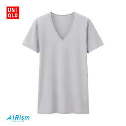 Men's AIRism V-Neck T-Shirt (Short Sleeve)