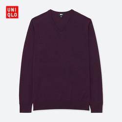 Men's worsted Merino V-neck sweater (long sleeve)
