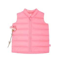 Sleeveless padded zip-up jacket