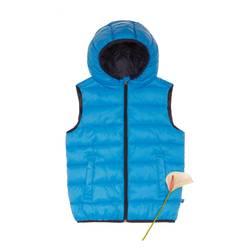 Sleeveless padded jacket with hood