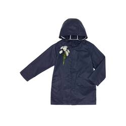 Wax jacket with hood