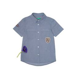Check shirt with patch