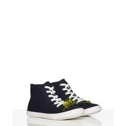 Patterned high-top sneakers