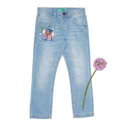 Five pocket jeans with print
