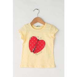 T-shirt with print and applique