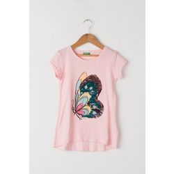 T-shirt with reversible sequins