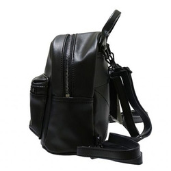 WOMEN'S MINI PU BACKPACK BLACK