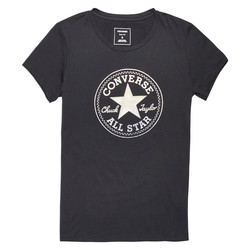 CLEAR FOIL CHUCK PATCH CREW TEE BLK