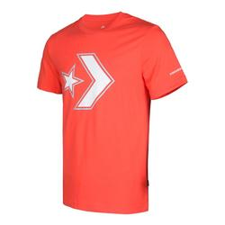 OUTLINED STAR CHEVRON TEE RUSH CORAL