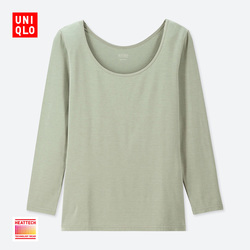 【Special size】Women's HEATTECH U-neck T-shirt (eight-quarter sleeve)