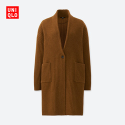 Women Wool Ribbed Knit Coat (Long Sleeve)