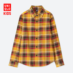 Children's Wear / Boys Flannel Plaid Shirt (Long Sleeve) D