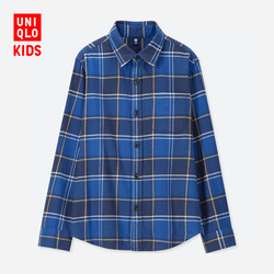 Children's Wear / Boys Flannel Plaid Shirt (Long Sleeve) A