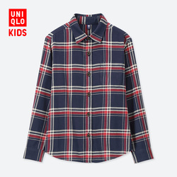 Children's Wear / Boys Flannel Plaid Shirt (Long Sleeve) B