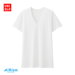 Men's AIRism mesh V-neck T-shirt (short sleeve)