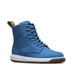 (Juniors)DMs Lite Kids Malky J Juniors Lace Boot Mid Blue T Canvas