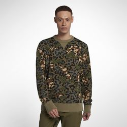 ESSENTIALS CAMO CREW DUSKY GREEN