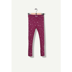 Legging printed bordeaux