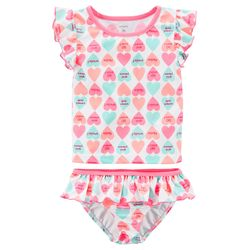 Carter's 2-Piece Candy Heart Swimsuit