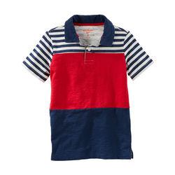 Striped Colorblock Jersey Polo