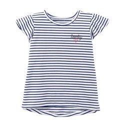 Striped Hi-Lo Tee