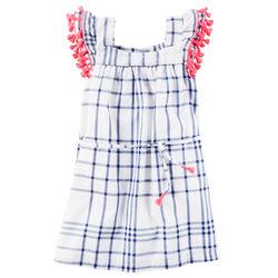 Window Pane Tassel Dress