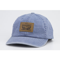 2-HORSE PATCH DENIM BASEBALL CAP